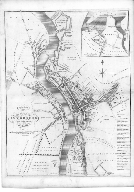 Inverness map 1825